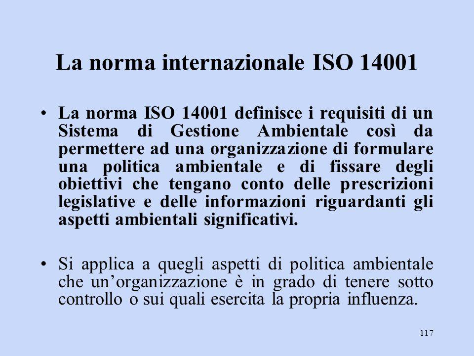 La norma internazionale ISO 14001