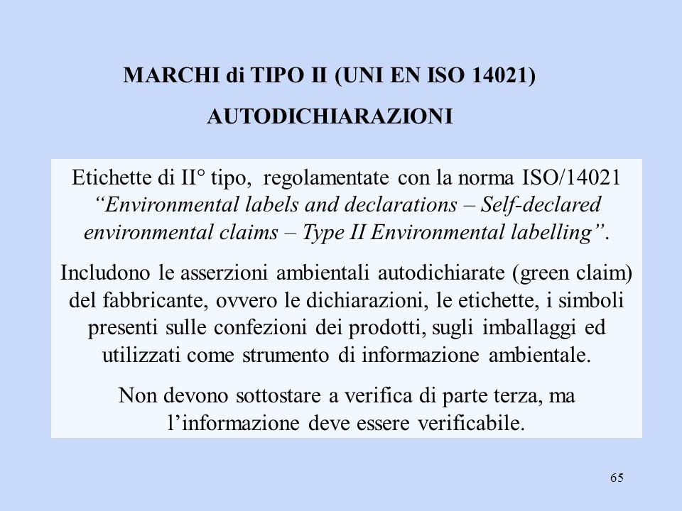 MARCHI di TIPO II (UNI EN ISO 14021)