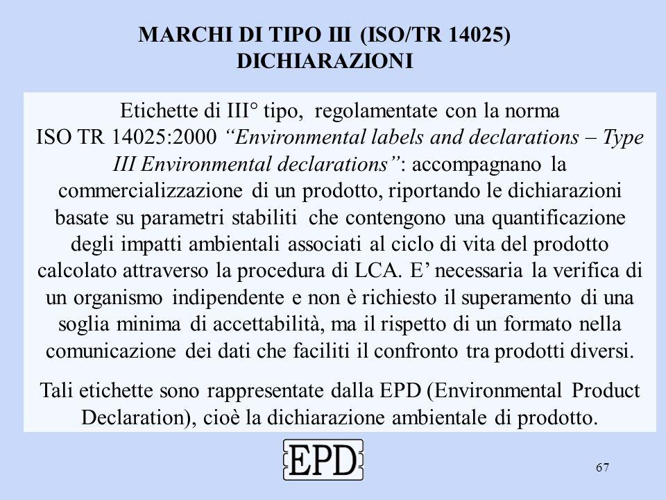 MARCHI DI TIPO III (ISO/TR 14025)