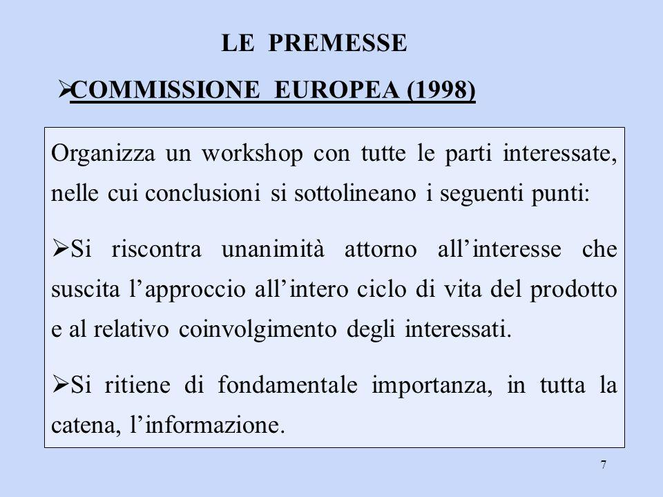 COMMISSIONE EUROPEA (1998)