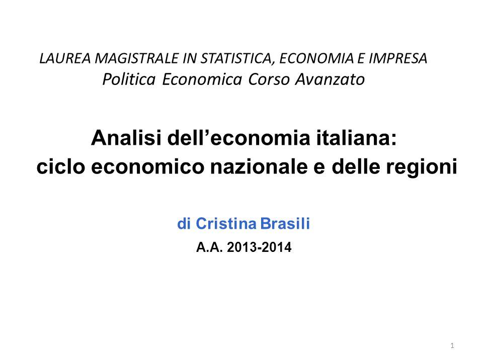 Analisi dell'economia italiana: