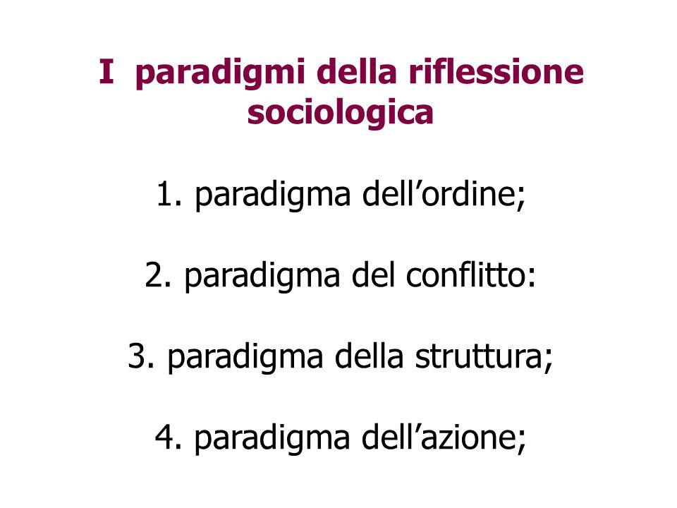 I paradigmi della riflessione sociologica