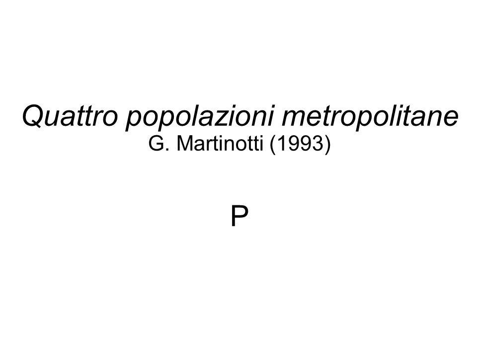 Quattro popolazioni metropolitane