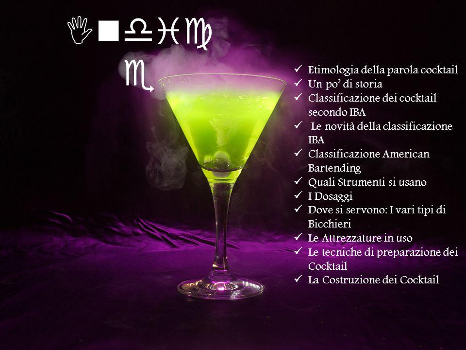 Indice Etimologia della parola cocktail Un po' di storia