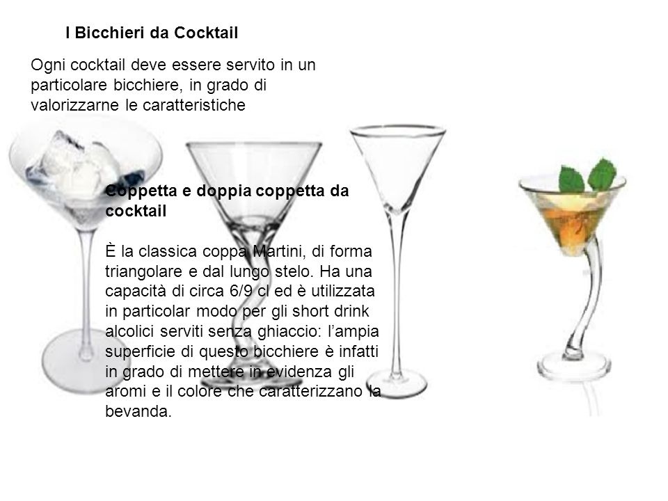 I Bicchieri da Cocktail