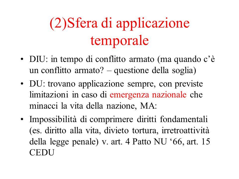 (2)Sfera di applicazione temporale