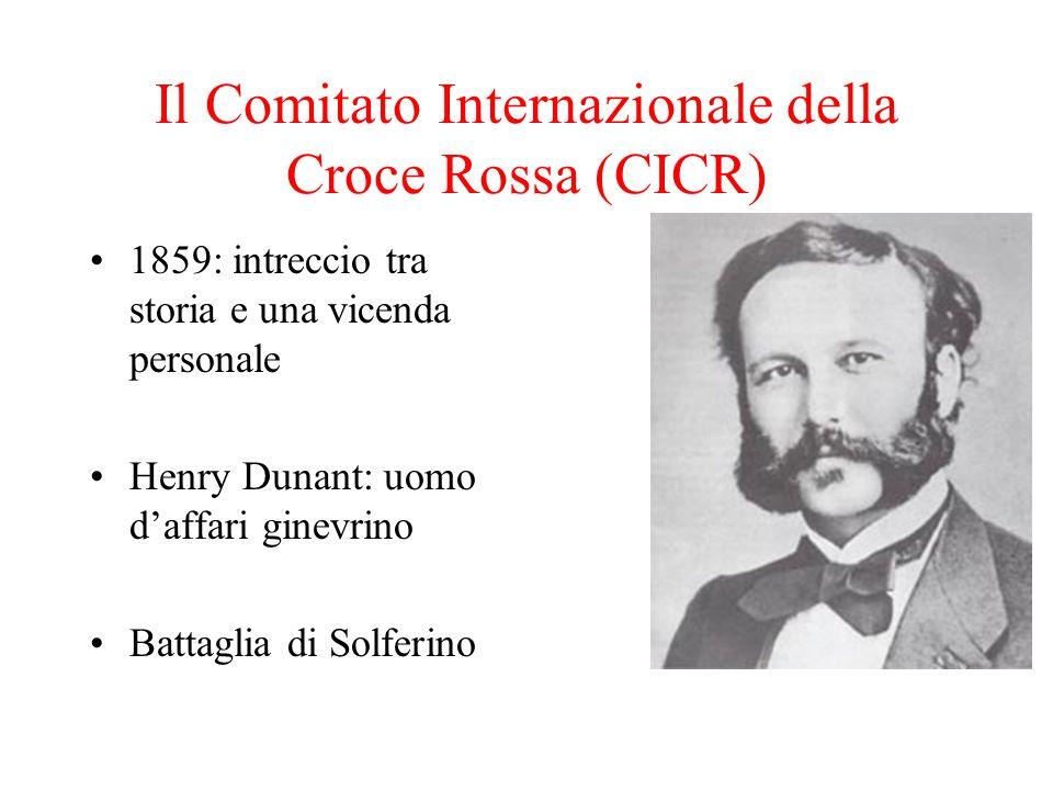 Il Comitato Internazionale della Croce Rossa (CICR)