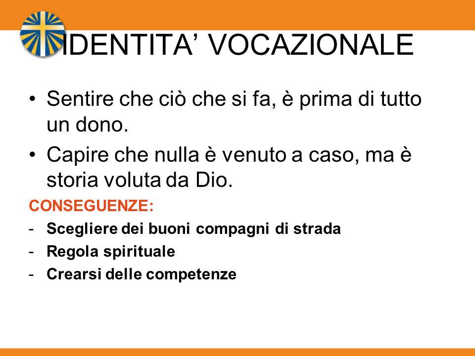 IDENTITA' VOCAZIONALE