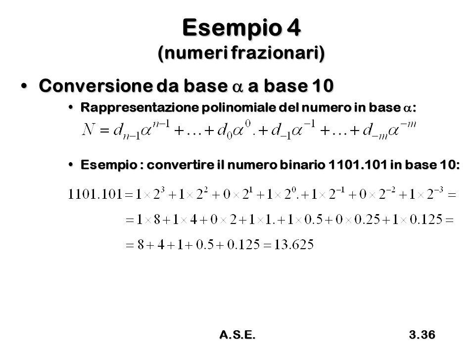 Esempio 4 (numeri frazionari)