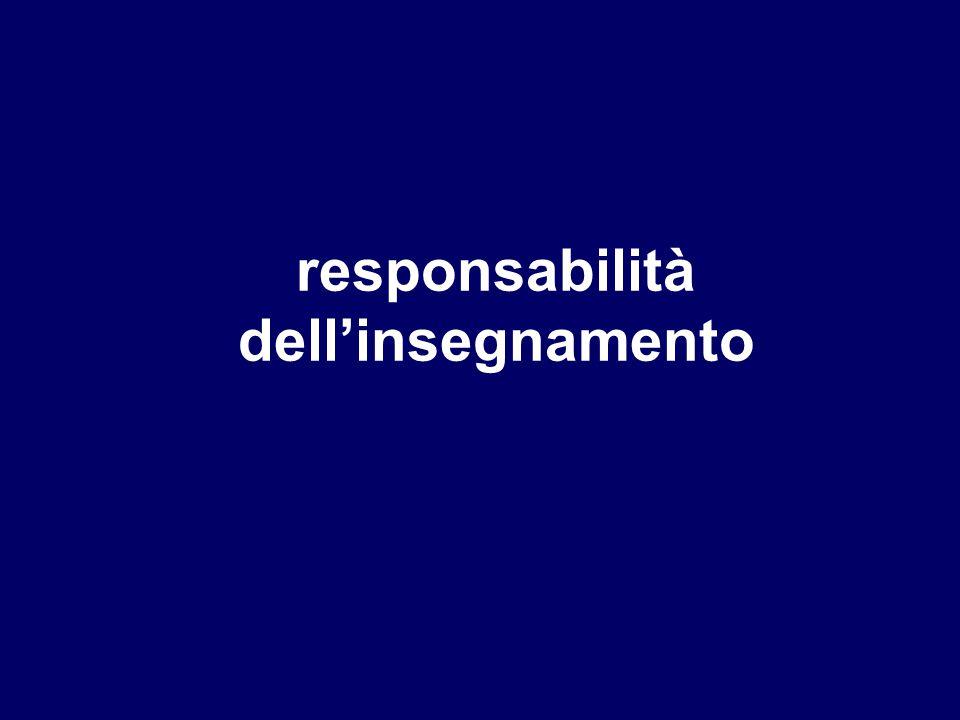 responsabilità dell'insegnamento