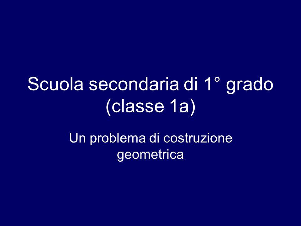 Scuola secondaria di 1° grado (classe 1a)