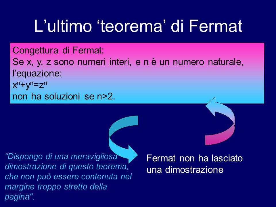 L'ultimo 'teorema' di Fermat