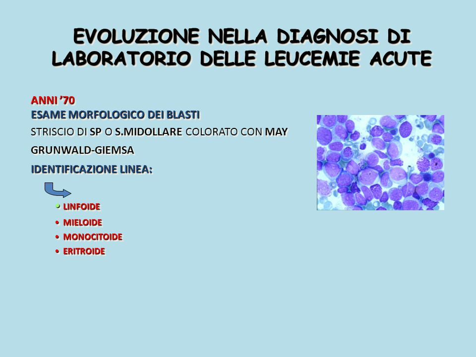 EVOLUZIONE NELLA DIAGNOSI DI LABORATORIO DELLE LEUCEMIE ACUTE