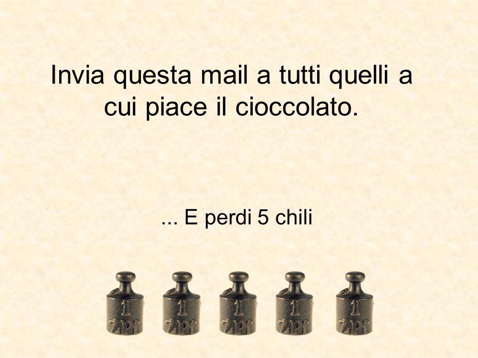 Invia questa mail a tutti quelli a cui piace il cioccolato.