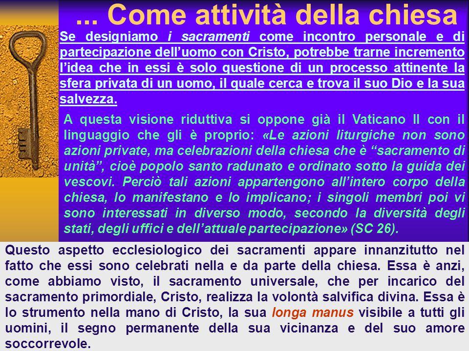 ... Come attività della chiesa