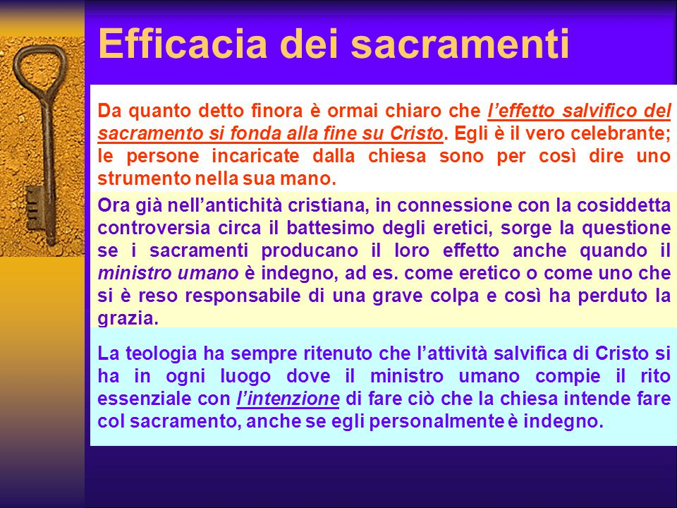 Efficacia dei sacramenti