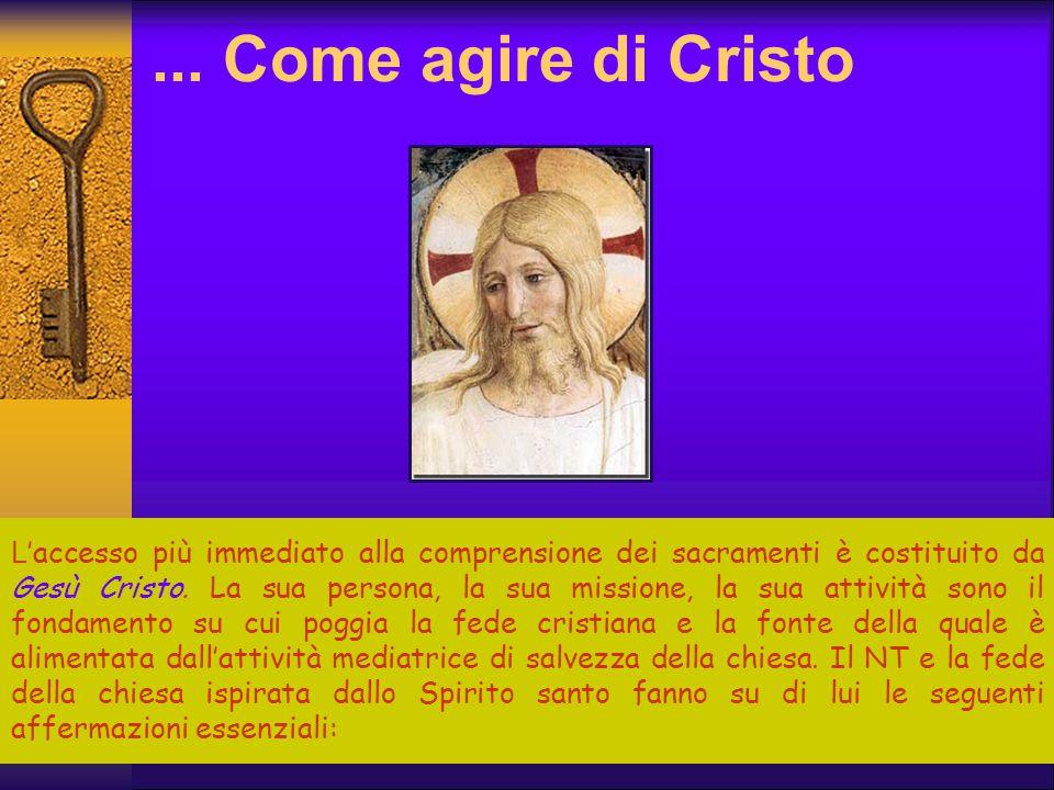 ... Come agire di Cristo