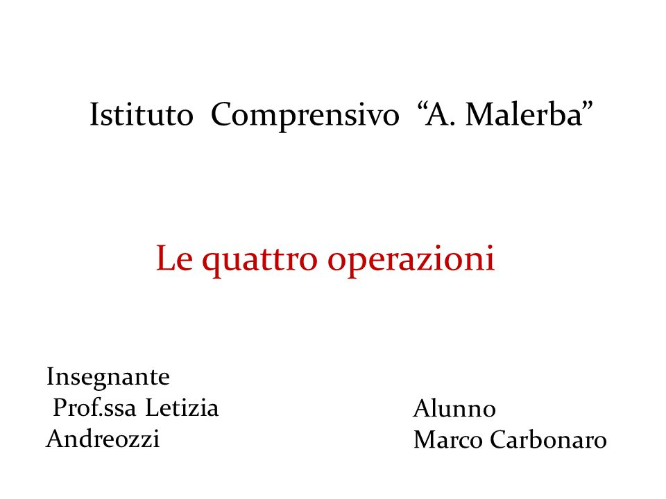 Istituto Comprensivo A. Malerba