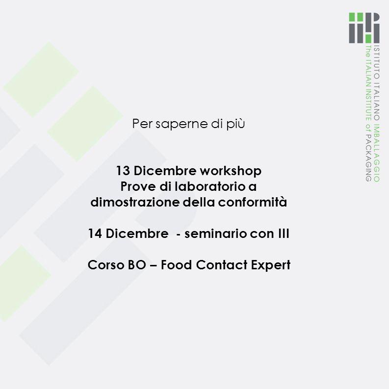 dimostrazione della conformità 14 Dicembre - seminario con III