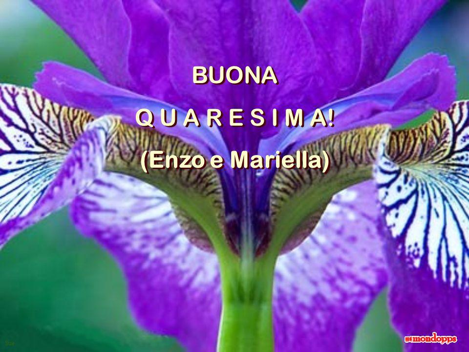BUONA Q U A R E S I M A! (Enzo e Mariella)