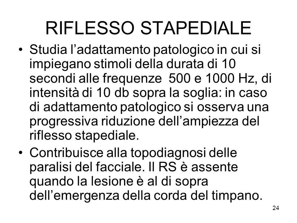 RIFLESSO STAPEDIALE