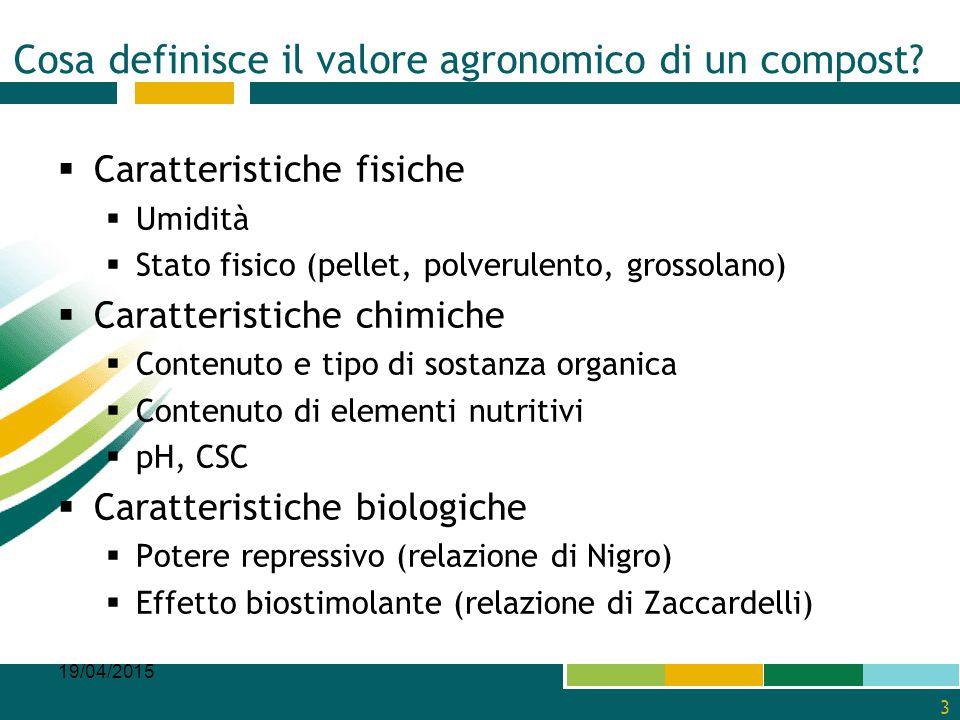 Cosa definisce il valore agronomico di un compost
