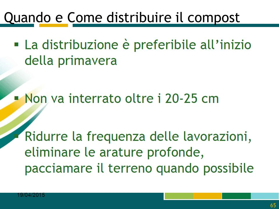 Quando e Come distribuire il compost