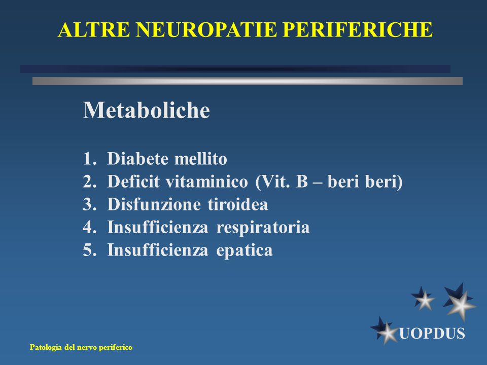 ALTRE NEUROPATIE PERIFERICHE