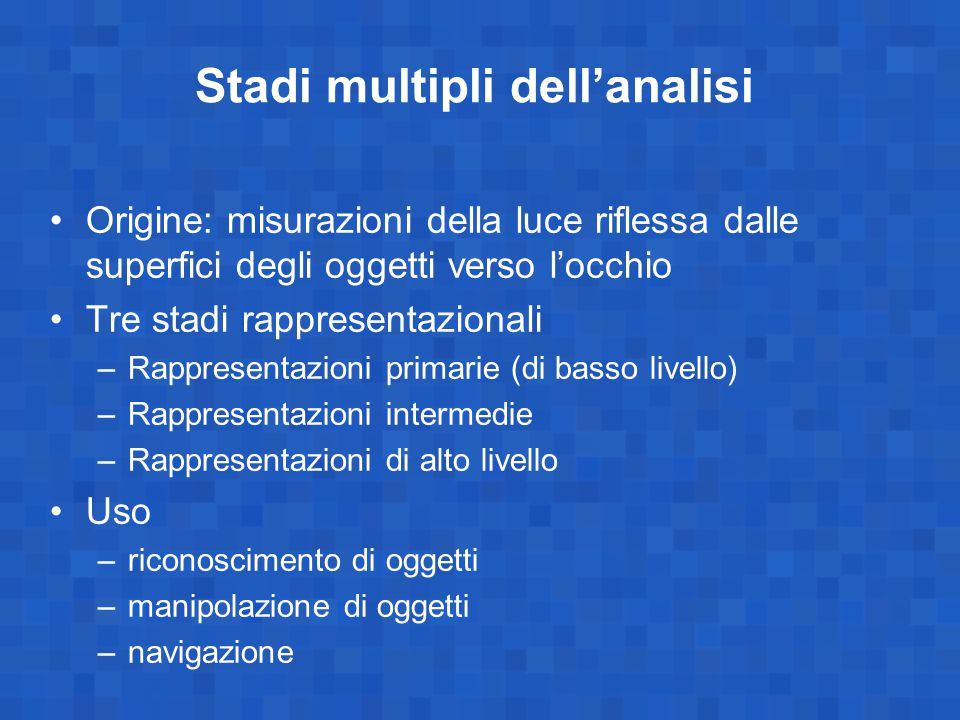 Stadi multipli dell'analisi