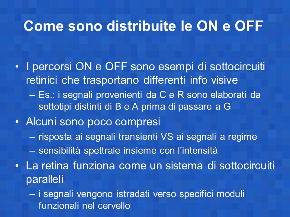 Come sono distribuite le ON e OFF