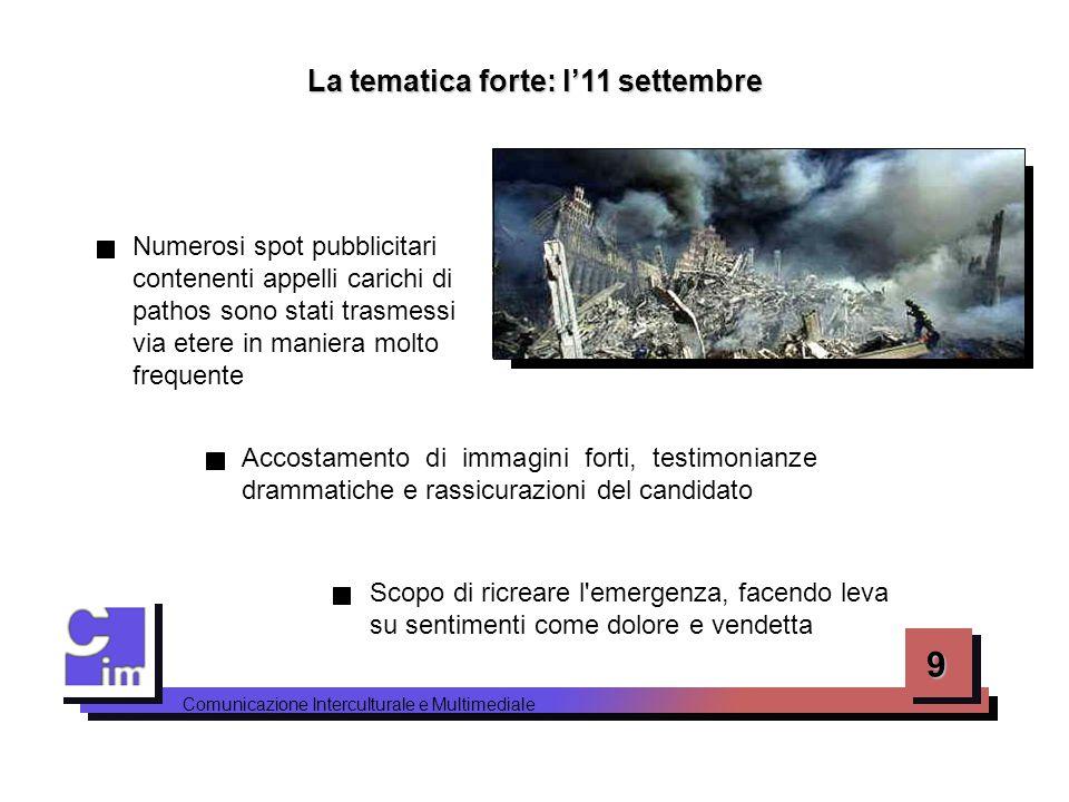 La tematica forte: l'11 settembre