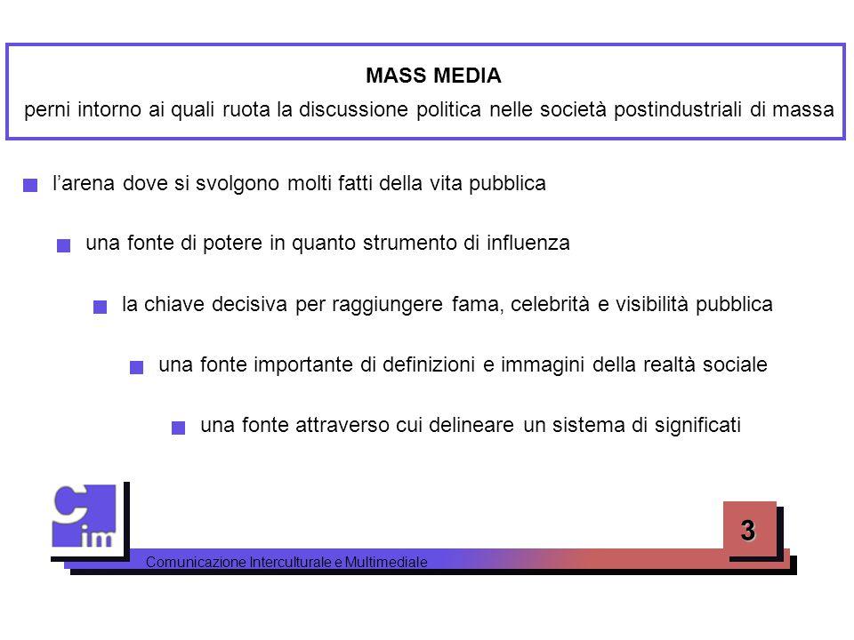 MASS MEDIA perni intorno ai quali ruota la discussione politica nelle società postindustriali di massa.