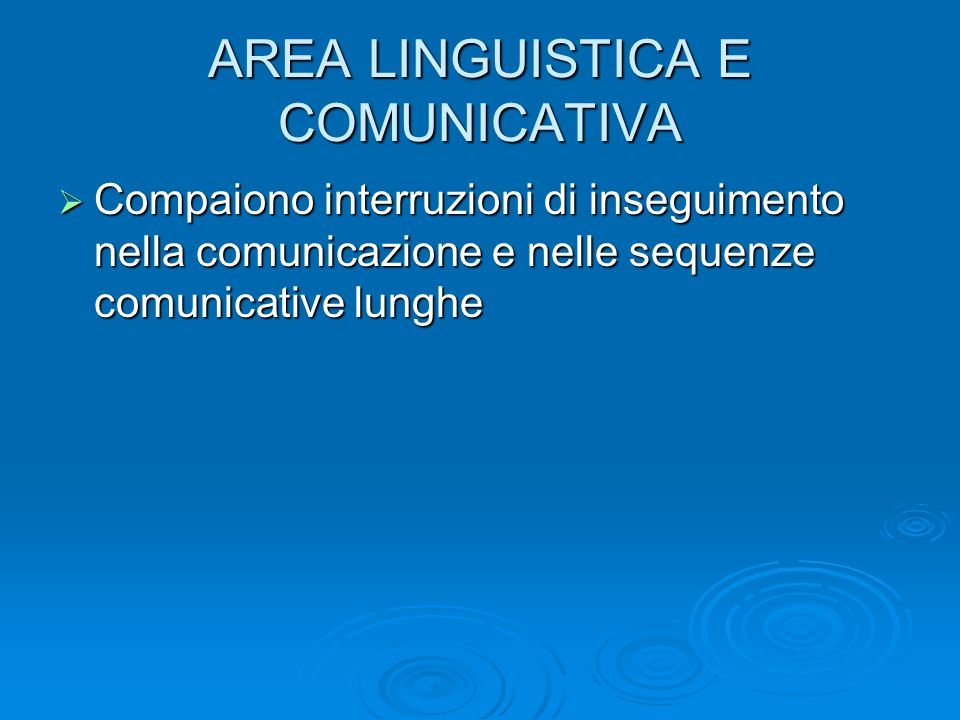 AREA LINGUISTICA E COMUNICATIVA
