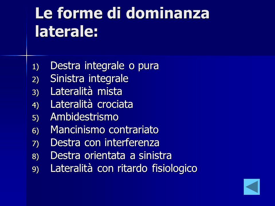 Le forme di dominanza laterale:
