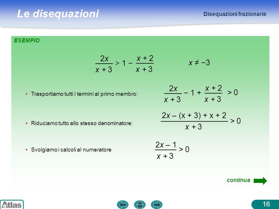 2x x + 2 > 1 − x ≠ −3 x + 3 2x x + 2 − 1 + > 0 x + 3