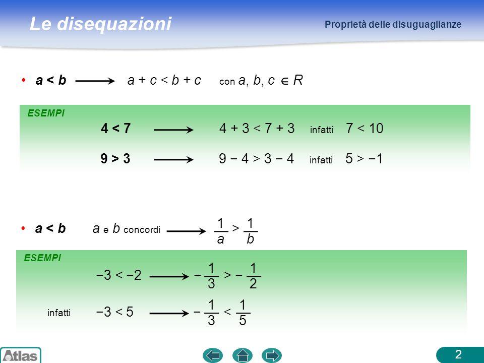 a < b a + c < b + c con a, b, c R 4 < 7