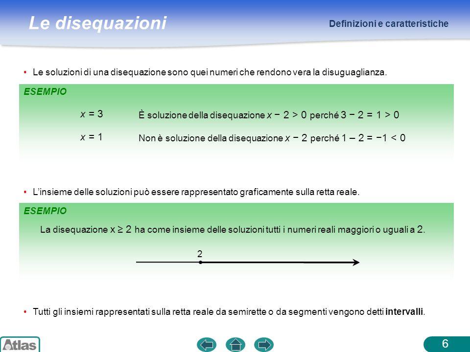 x = 3 x = 1 Definizioni e caratteristiche