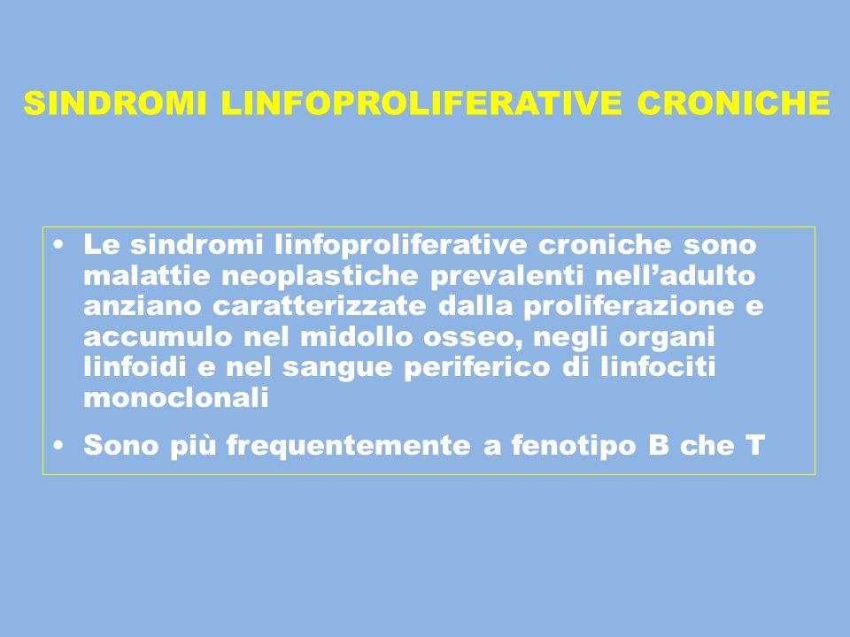SINDROMI LINFOPROLIFERATIVE CRONICHE