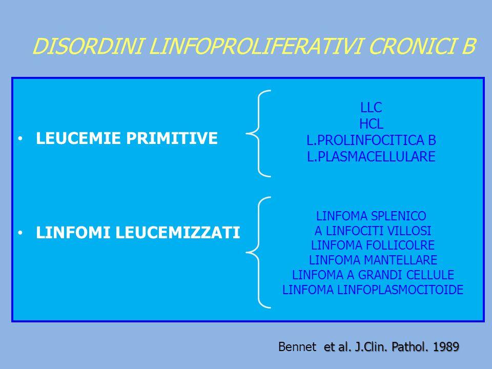 DISORDINI LINFOPROLIFERATIVI CRONICI B