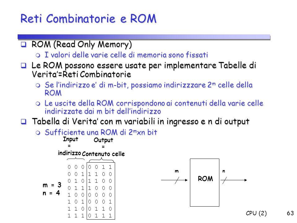 Reti Combinatorie e ROM