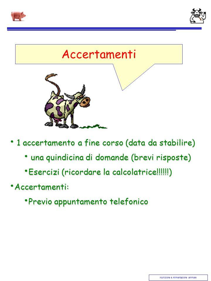 Accertamenti 1 accertamento a fine corso (data da stabilire)