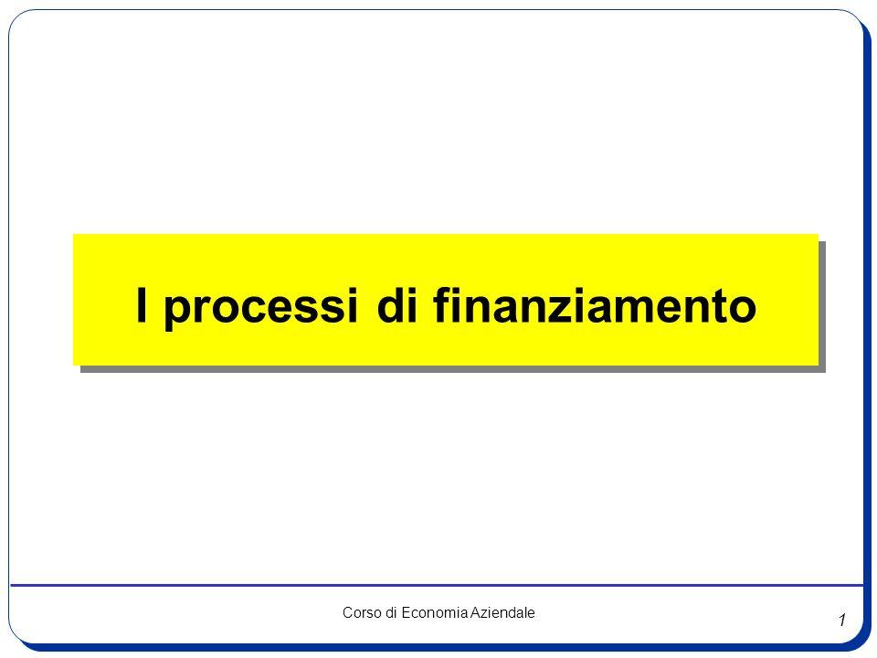 I processi di finanziamento
