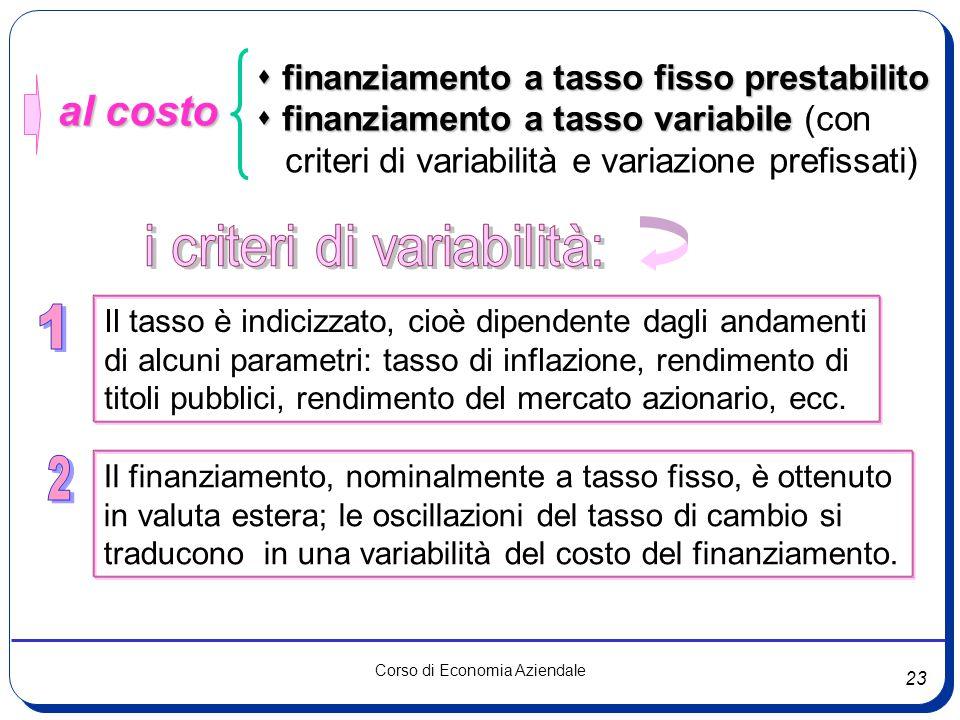 i criteri di variabilità: