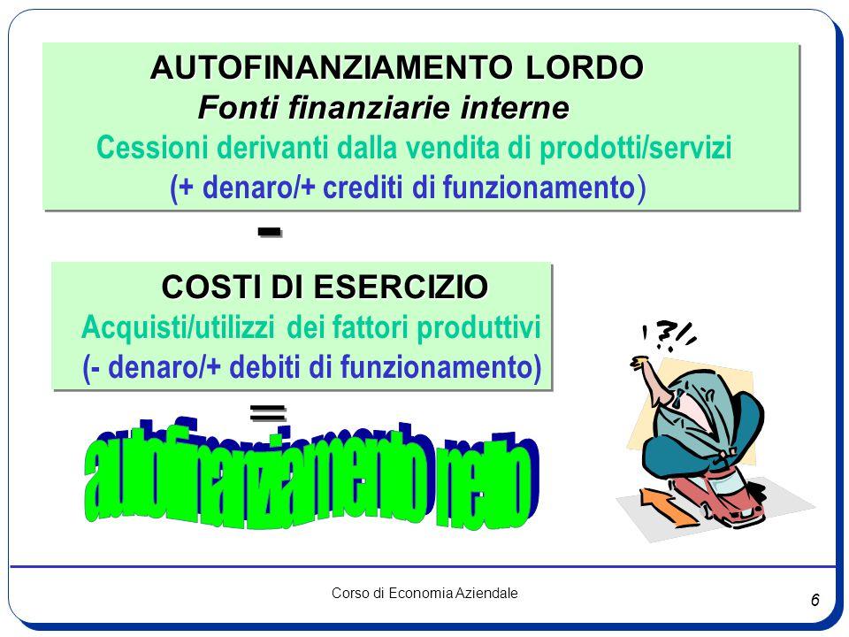 autofinanziamento netto