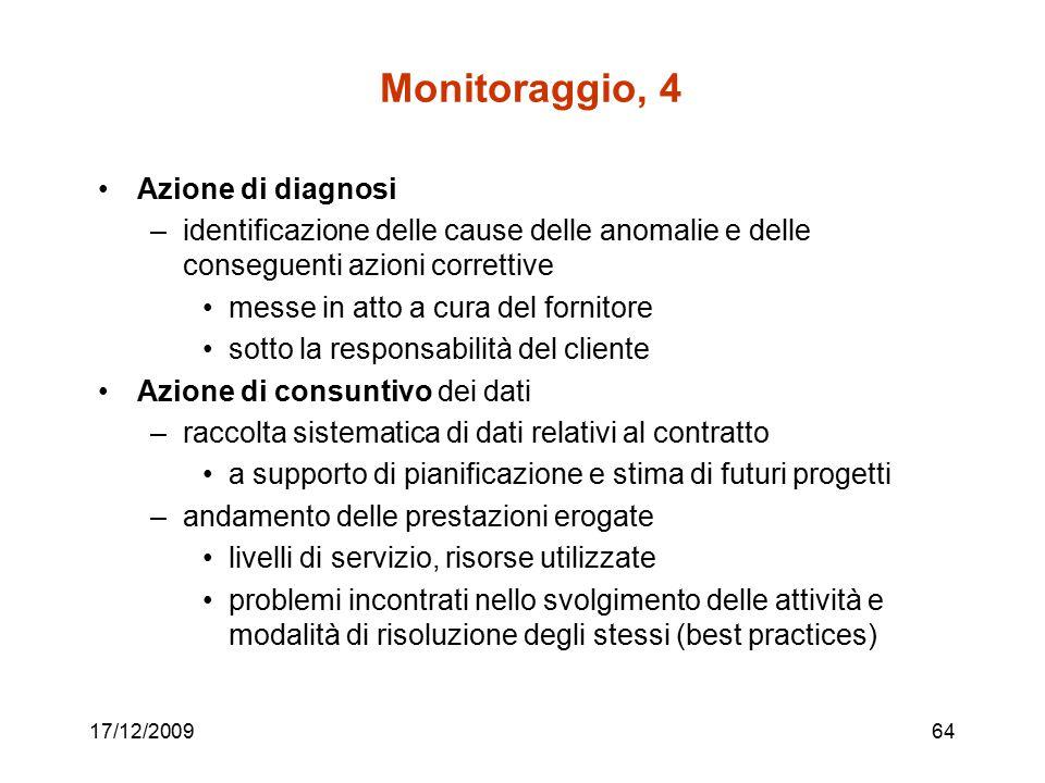 Monitoraggio, 4 Azione di diagnosi