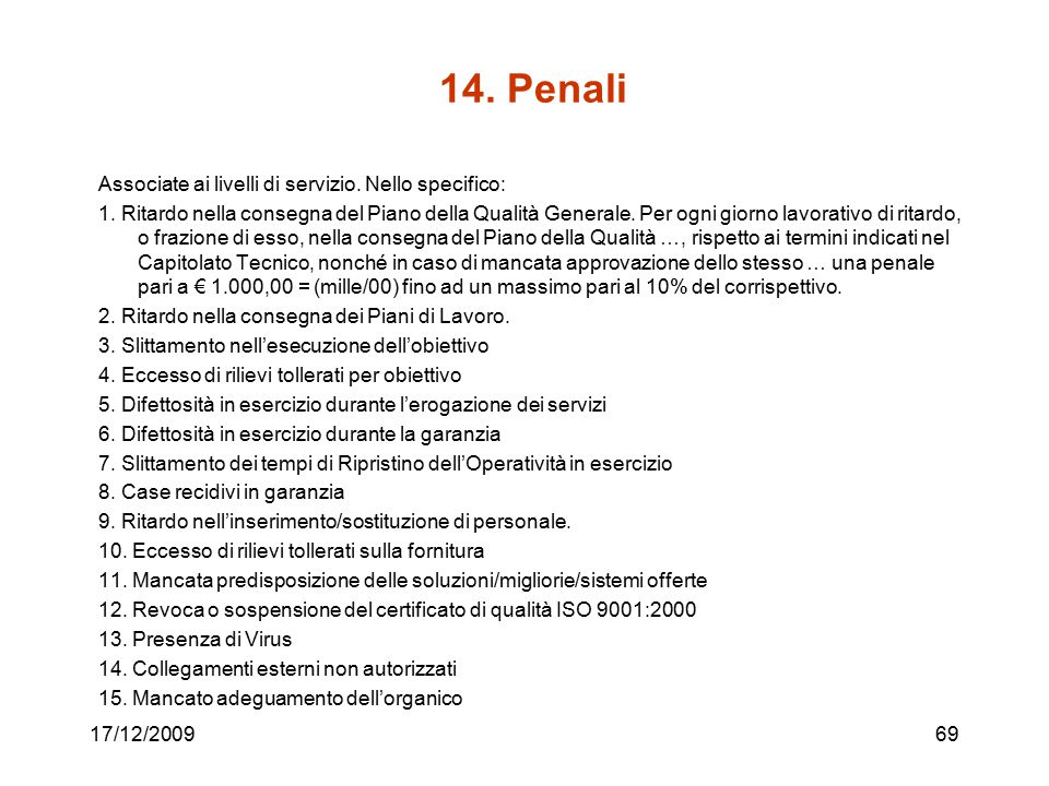 14. Penali