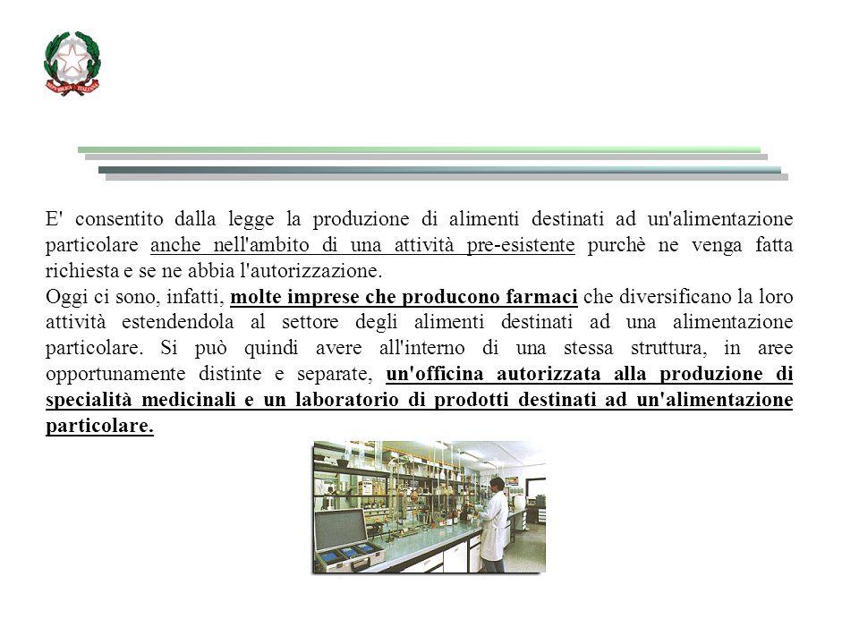 E consentito dalla legge la produzione di alimenti destinati ad un alimentazione particolare anche nell ambito di una attività pre-esistente purchè ne venga fatta richiesta e se ne abbia l autorizzazione.