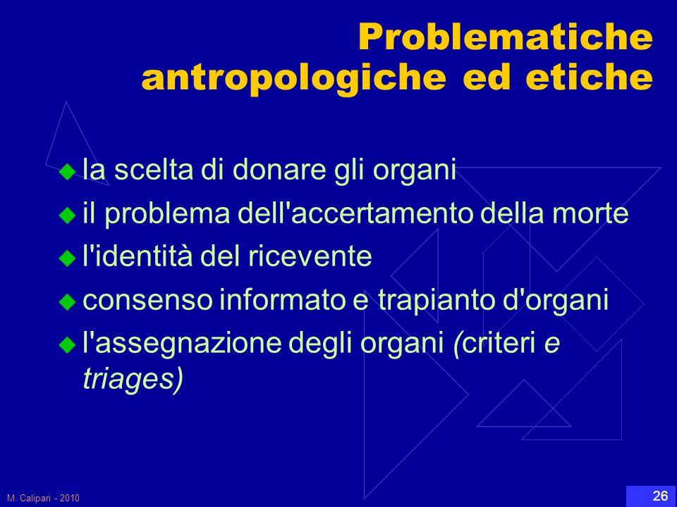 Problematiche antropologiche ed etiche