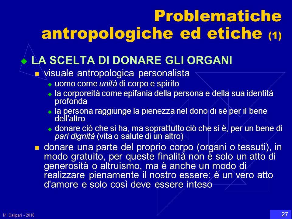 Problematiche antropologiche ed etiche (1)