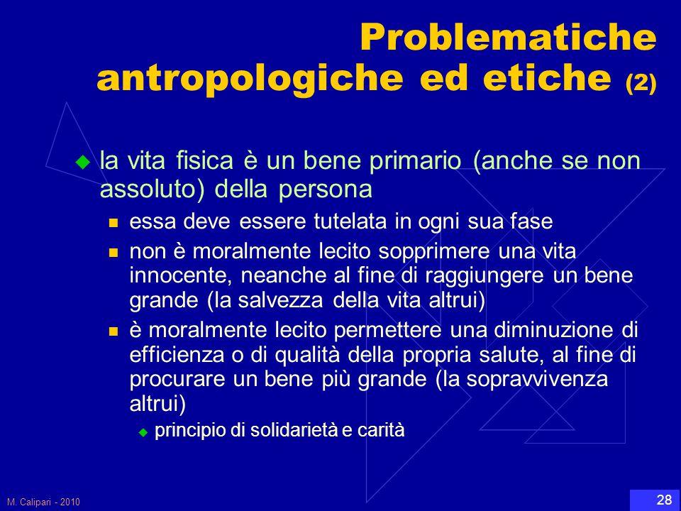 Problematiche antropologiche ed etiche (2)